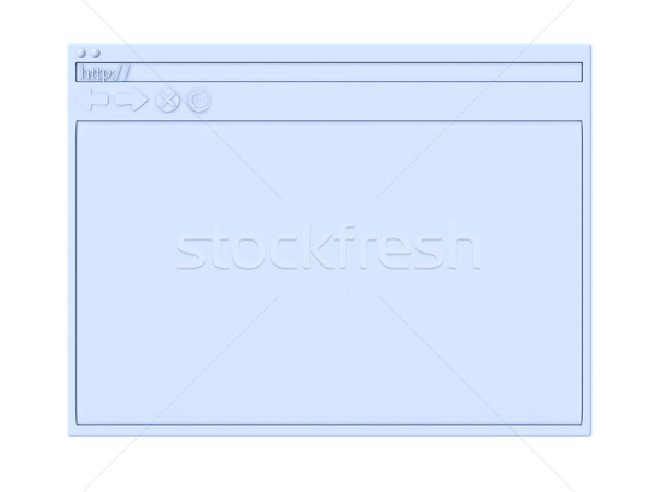 Browser venster 3d illustration symbolisch internet technologie Stockfoto © Spectral