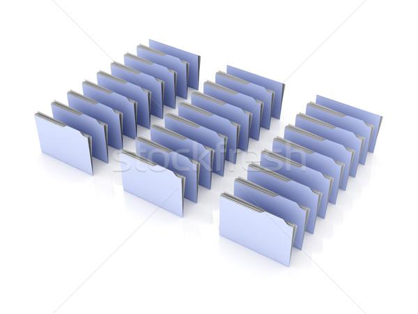 Dossier rangée 3D rendu illustration isolé Photo stock © Spectral
