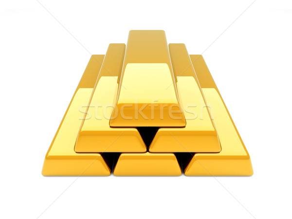 Gold Bar Pyramid Stock photo © Spectral