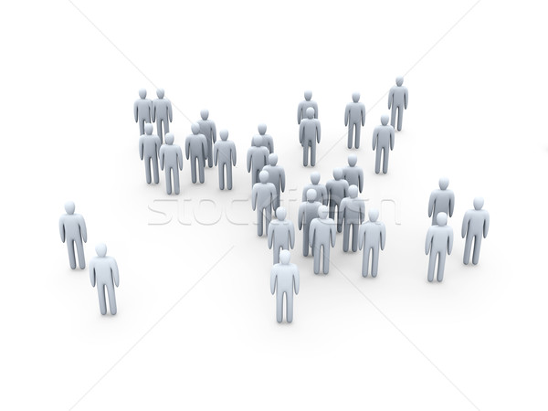 Anonyme foule 3d illustration groupe travailleur cible Photo stock © Spectral