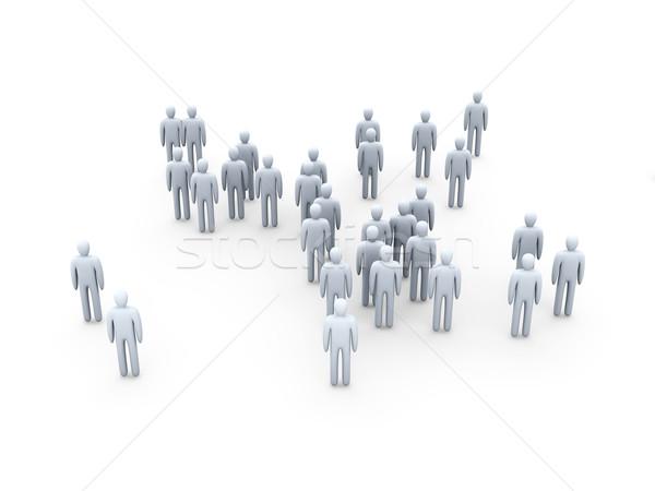 Anônimo multidão ilustração 3d grupo trabalhador alvo Foto stock © Spectral