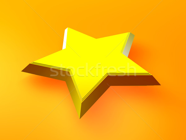 黄色 星 3D レンダリング シンボル クリスマス ストックフォト © Spectral