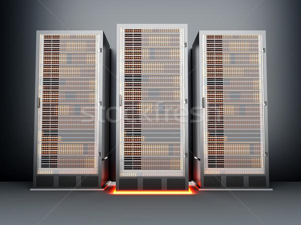 металл сервер комнату темно 3D оказанный Сток-фото © Spectral