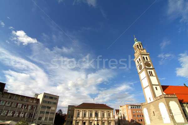Old town center of Augsburg with St. Peter Stock photo © Spectral