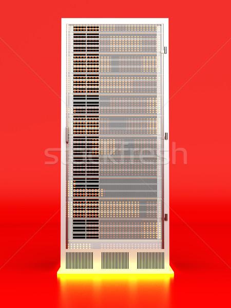 Sunucu kule 3D render örnek dizayn Stok fotoğraf © Spectral