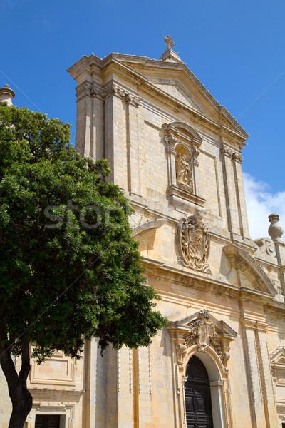 Santo Malta chiesa costruzione città estate Foto d'archivio © Spectral
