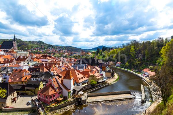 View over Krumlov in Bohemia Stock photo © Spectral