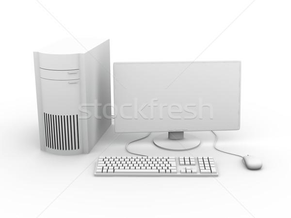 Desktop PC Setup Stock photo © Spectral