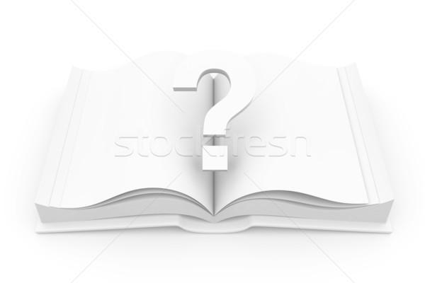 Tutorial libro 3D prestados ilustración fondo Foto stock © Spectral