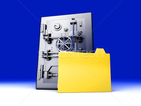 Sécurisé 3D rendu illustration affaires Photo stock © Spectral