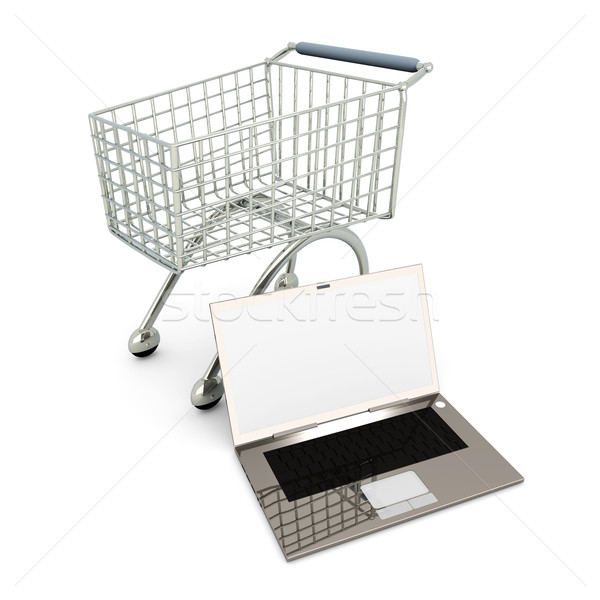 Laptop Shopping Stock photo © Spectral