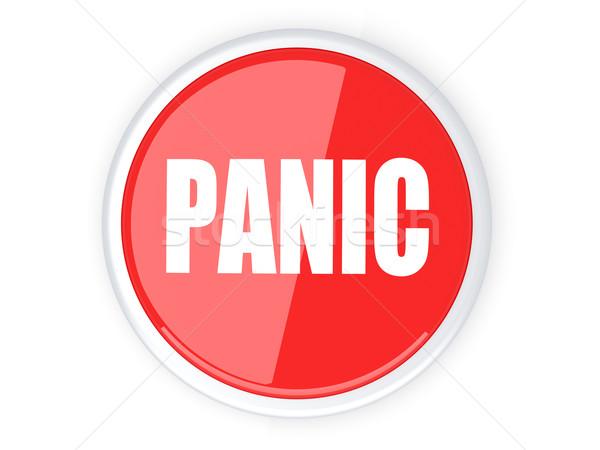 Panik düğme 3D render örnek imzalamak Stok fotoğraf © Spectral