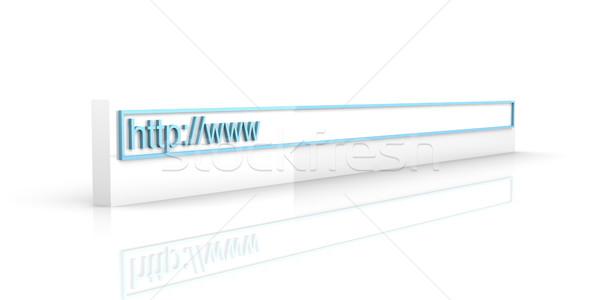 Web adres 3D render örnek uzay Stok fotoğraf © Spectral