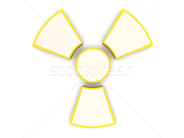 Radioactifs signe 3D rendu illustration Photo stock © Spectral