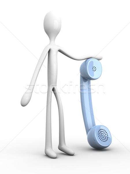 Tart telefon 3D renderelt illusztráció test Stock fotó © Spectral