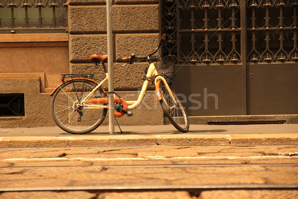 A parked Bicycle in Milan Stock photo © Spectral