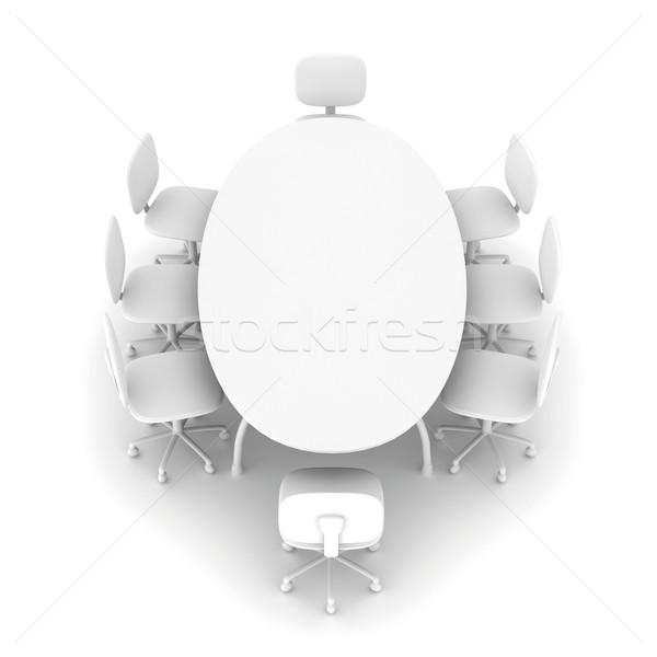 általános konferencia asztal 3D renderelt illusztráció Stock fotó © Spectral
