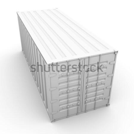 контейнера 3D оказанный иллюстрация промышленности промышленных Сток-фото © Spectral