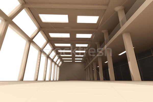 Piso 3D prestados interior edificio habitación Foto stock © Spectral