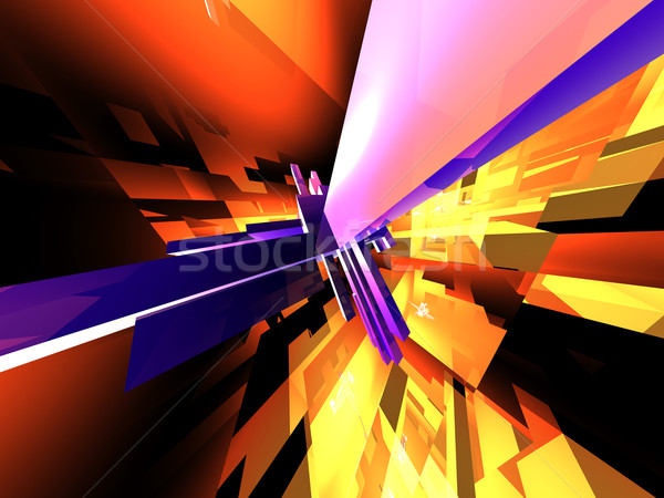 Magas 3D renderelt számítógép absztrakt narancs Stock fotó © Spectral