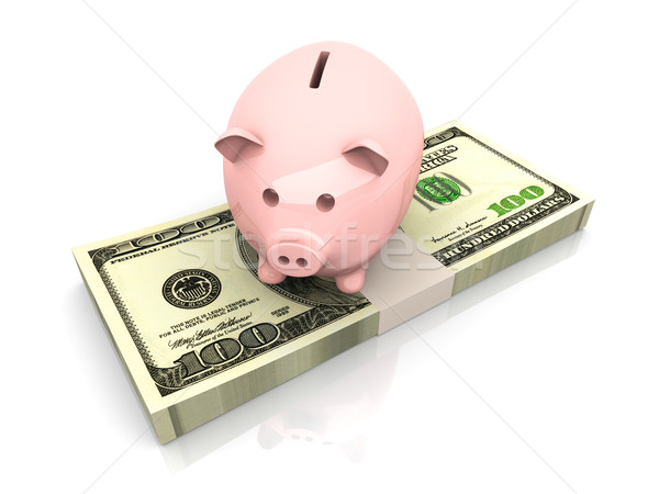 Piggy bank saving Dollars Stock photo © Spectral