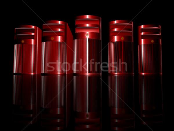 зла 3D оказанный иллюстрация грубо алюминий Сток-фото © Spectral