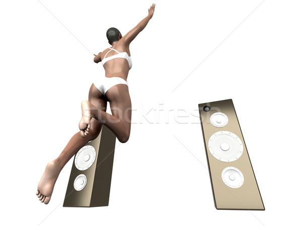Springen Musik 3D gerendert Illustration isoliert Stock foto © Spectral