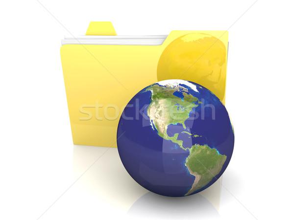 Global Klasör Amerika 3D render örnek Stok fotoğraf © Spectral