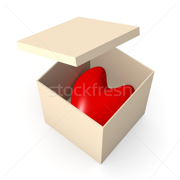 Heart in a box Stock photo © Spectral