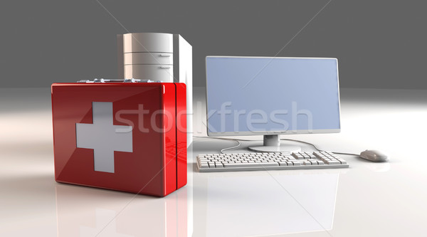 Computer First aid Stock photo © Spectral