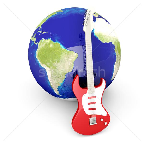 глобальный рок 3D оказанный иллюстрация изолированный Сток-фото © Spectral