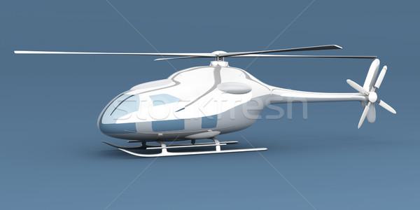 вертолета общий 3D оказанный иллюстрация небе Сток-фото © Spectral