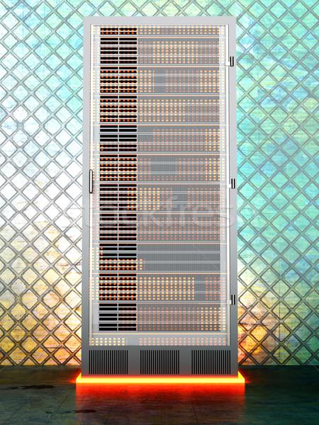 Metal server stanza ferro 3D reso Foto d'archivio © Spectral