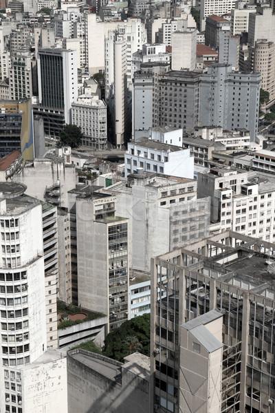 Sziluett Sao Paulo Brazília dél-amerika üzlet égbolt Stock fotó © Spectral