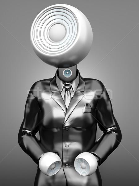 Stereo kafa iş ses 3d illustration müzik Stok fotoğraf © Spectral