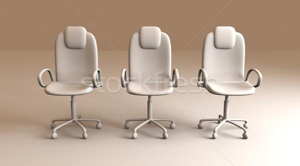Ofis koltuğu 3D render sandalye dijital şirket Stok fotoğraf © Spectral