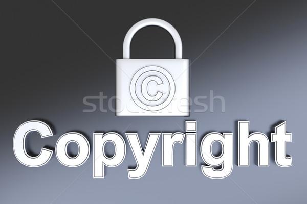 著作権 保護 シンボル 3D レンダリング 実例 ストックフォト © Spectral