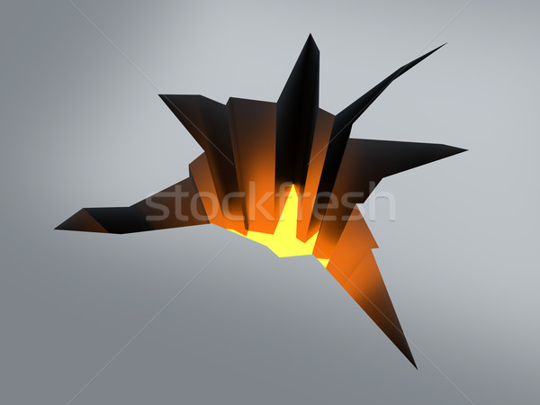 Crack étage 3D rendu illustration feu Photo stock © Spectral