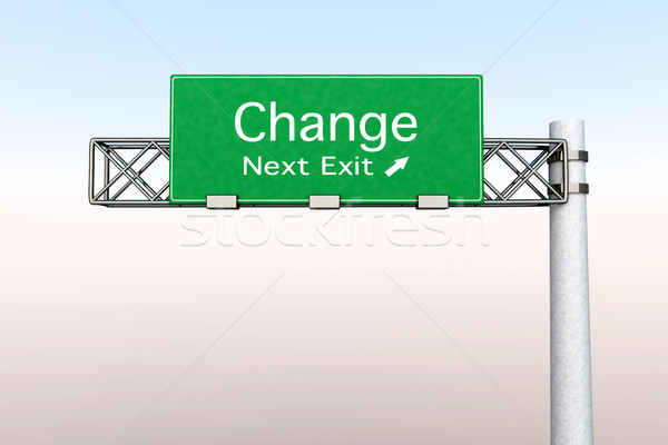 Highway Sign - Change Stock photo © Spectral