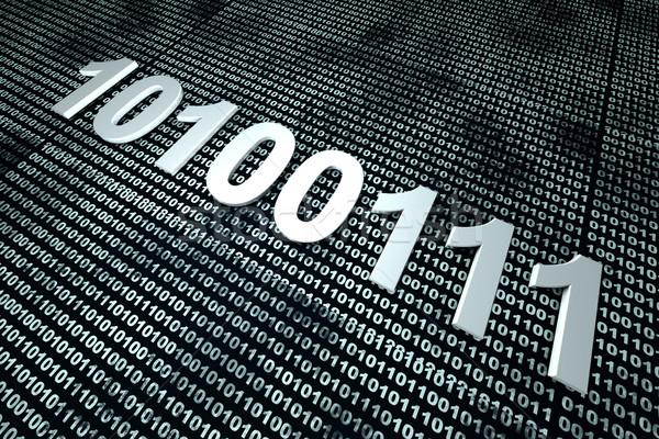 Bináris kód 3d illusztráció számítógép terv technológia hálózat Stock fotó © Spectral