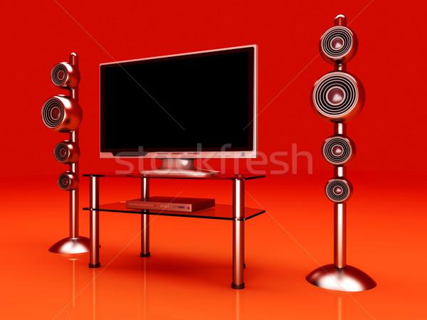 Ev eğlence 3D render örnek televizyon film Stok fotoğraf © Spectral