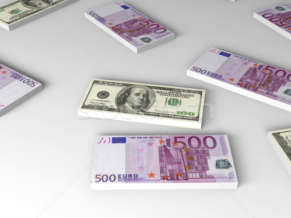 Dollar and Euro Notes Stock photo © Spectral