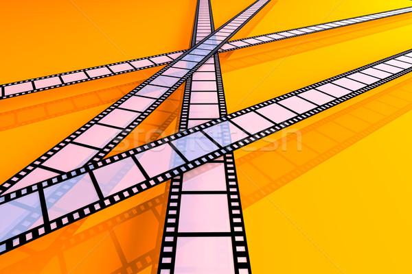 Film şeritler 3d illustration çerçeve film siyah Stok fotoğraf © Spectral