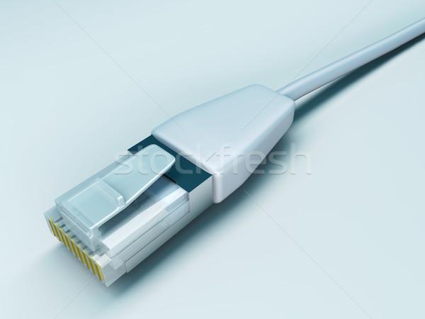 Lan kabel 3D gerenderd illustratie computer Stockfoto © Spectral