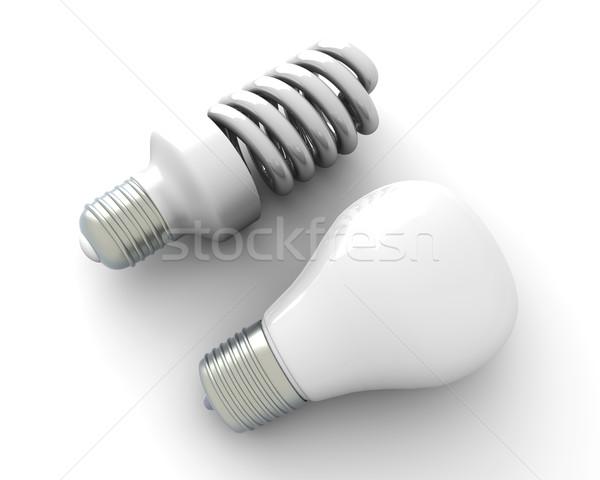 Villanykörték öreg új klasszikus modern energia Stock fotó © Spectral