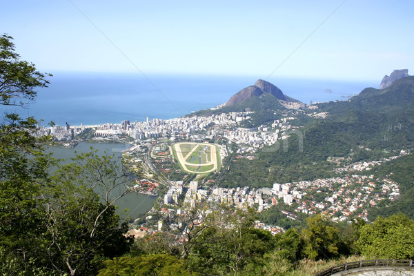Rio de Janeiro şehir görmek gökyüzü Bina dağ Stok fotoğraf © Spectral