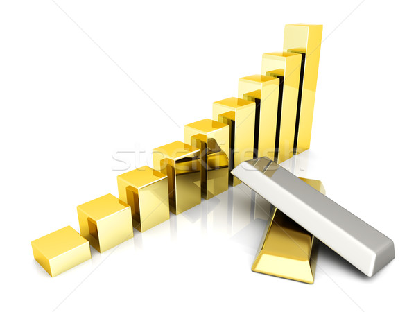 Rising precious metals Stock photo © Spectral