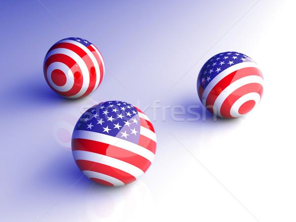 Americano sfera illustrazione 3d bandiera palla grafica Foto d'archivio © Spectral