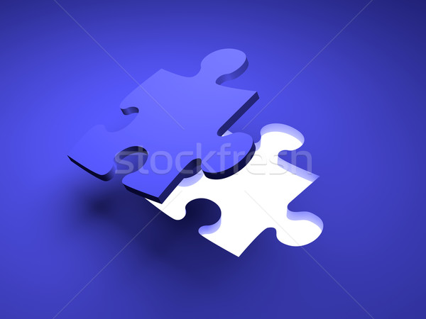 Puzzel oplossing 3D gerenderd illustratie business Stockfoto © Spectral