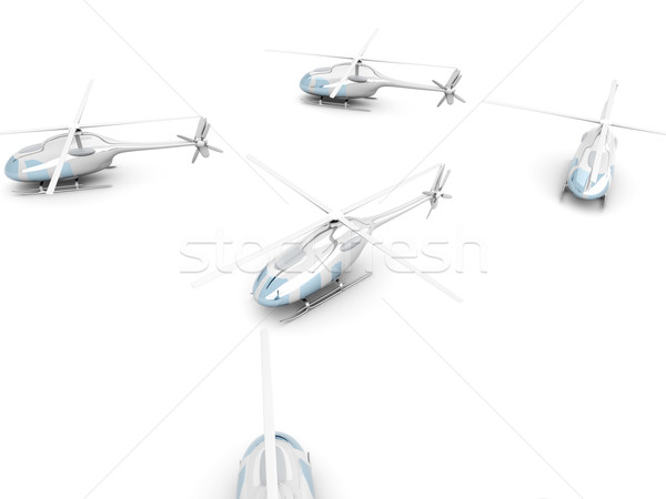 A group of Helicopters Stock photo © Spectral
